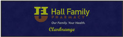 "3' x 10' (34"" x 116"") Digiprint Classic HALL FAMILY PHARMACY   Indoor Logo Mat"