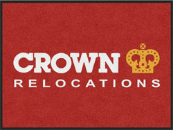 "3' x 4' (35"" x 47"") Digiprint HD CROWN RELOCATIONS  Indoor Logo Mat"