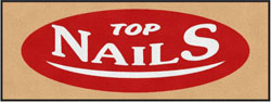"3' x 8' (35"" x 95"") Digiprint Classic TOP NAILS   Indoor Logo Mat"