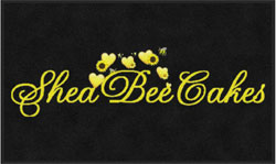 "3' x 5' (35"" x 59"") Digiprint HD SHEABEE CAKES  Indoor Logo Mat"