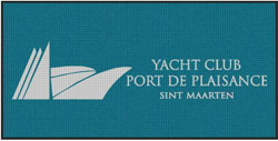 "4' x 8' (45"" x 95"") Waterhog Impressions HD YACHT CLUB  Indoor/ Outdoor Logo Mat"