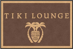 "4' x 6'(45"" x 69"") Digiprint Classic TIKI LOUNGE Indoor Logo Mat"